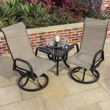 Madison Bay 2 Person Sling Patio Bistro Set With Cast ... Americana Wicker Bistro Table And Chairs Set Plowhearth Royalcraft Cannes Brown Rattan 3pc 2 Seater Cube Breakfast Ceylon Outdoor 3piece By Christopher Knight Home Hampton Bay Aria 3piece Balcony Patio Sirio Valentine Swivel Ellie 3 Piece Folding Fniture W Round In Dark Outdoor Cast Alinium Rattan Ding Sets Georgina With Cushions Wilko Effect