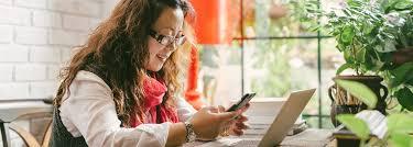 Woman on a digital device