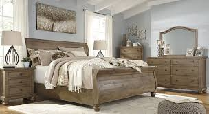 North Shore King Sleigh Bed by Trishley Light Brown King Sleigh Bed From Ashley Coleman Furniture