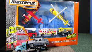 100 Matchbox Fire Trucks Mission Force With And Sky Busters YouTube