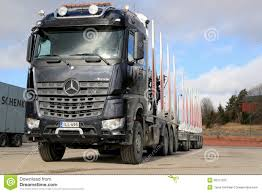 New Mercedes-Benz Arocs 3263 Timber Truck Editorial Image - Image Of ...