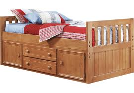 Creekside Taffy 3 Pc Twin Captain s Bed Beds Light Wood