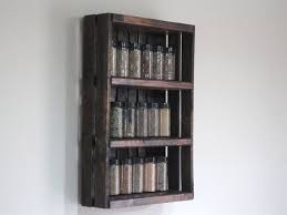 Crate Spice Rack Or Knick Knack Display Wall Hanging 3000 Via Etsy