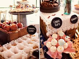 Rustic Wedding Cake Dessert Table