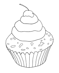 Cupcake Sugar With Cherry Coloring Page