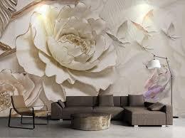 ثلاثية الأبعاد خلفية جدارية اللوحة مجسمة الإغاثة خلفية زهرة للجدران ثلاثية الأبعاد جداريات حائطية غرفة المعيشة غرفة نوم صور خلفية