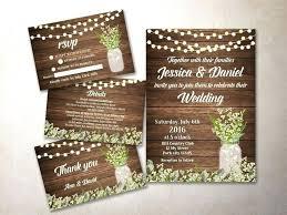 Wedding Invitations Country Rustic Invitation Kit Printable Mason Jar Kits