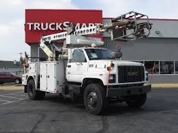 2002 GMC TOPKICK C7500 CABLE PLAC BUCKET BOOM TRUCK FOR SALE #11066