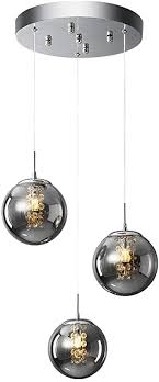 hws pendelleuchte glas pendelle kristall kronleuchter modern hängeleuchte kugel hängele wohnzimmer design kreative höhenverstellbar innen