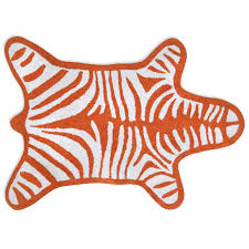 Reversible Orange Zebra Bathmat Bath Accessories