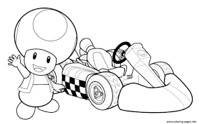 Nintendo Toad Coloring Pages Printable Coloring Page For Kids