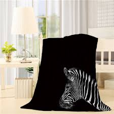 Amazoncom Bed Blanket 59 X 79 Inch Black And White Zebra Air