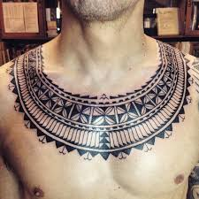 Awesome Tribal Necklace Tattoo For Men