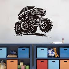 100 Monster Truck Bedroom Creative Vinyl Adhesive Art Wallpaper Large Size Funny