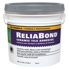 custom building products reliabond 3 5 gal ceramic tile adhesive
