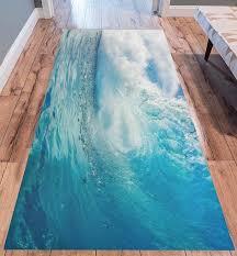 Ocean Heavy Waves Modern Area Rug