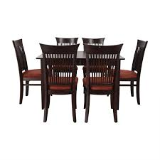 Buy Fortunoff Dining Table With Burgundy Upholstered Chairs Online