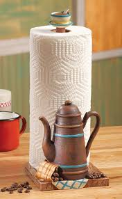 Coffee Themed Kitchen Accessories Decor Walmart Table Paper Towel Holder With