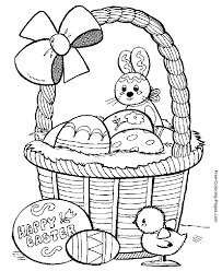 Easter Coloring Pages Of Baskets