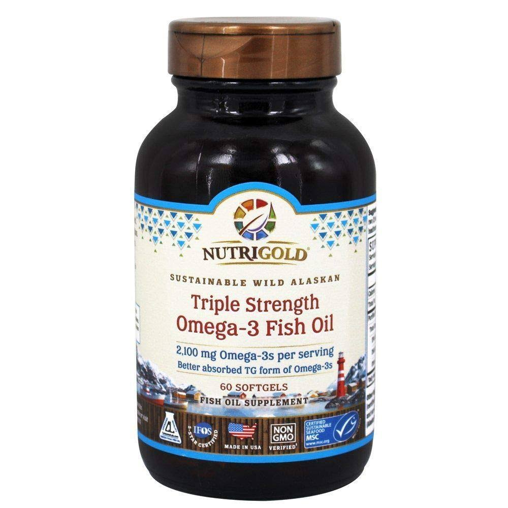 Nutrigold Omega-3 Gold Fish Oil - 1250mg, 60 Softgels