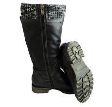 tamaris 1 26606 25 women u0027s knitted top waterproof zip up knee high