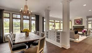 Kitchen Living Room Divider Ideas Dining Transitional With