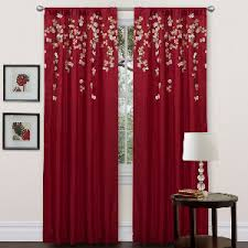 Lush Decor Curtains Canada by Lush Décor Flower Drops Blue Kitchen Swags
