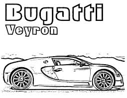 Bugatti Car Expensive Colouring Page