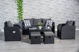 BLACK RATTAN GARDEN FURNITURE SET SOFA + RECLINING CHAIRS ... Amazoncom Valita Outdoor Black Rattan Lounge 2 Piece 53 Resin Wicker Recliner Spray Pating Plastic Garden Chairs Seating Allibert Kensington Club 110cm Table Grey With 4 Recling Ding Armchairs Costway 6piece Patio Fniture Set Sectional Sofa Couch Yard Wblack Cushion Gorgeous Chairs Room Bedroom Target Sundeck Sjlland Table4 Recling Outdoor Dark Grey Frsnduvholmen Red And Tags High Top Pe Chaise Chair Beach Pool Adjustable Backrest Recliners Olive Green Moltes Seater Exists In 3 Colours Amusing Wooden Side