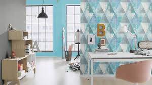 7 410907 hyde park rasch muster tapete blau wohnzimmer dreieck