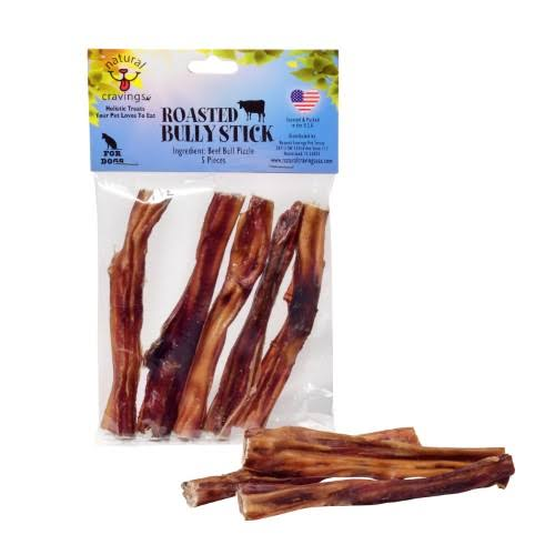 Natural Cravings USA Bully Sticks 5 Pack 5 inch Very Tasty