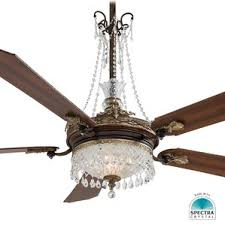 ceiling fan with crystal light wayfair
