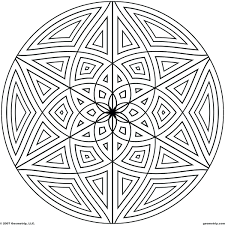 Rangoli Designs Coloring Pages Easy Sheets Unique Geometric Design On Full Size