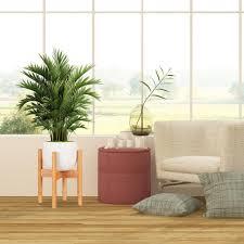 relaxdays blumenständer bambus verstellbar