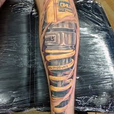 Suspension Shock Cool Motocross Tattoos On Guys Leg