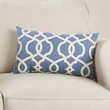 Red Decorative Lumbar Pillows by Decorative Lumbar Pillow Oversized Embroidered Floral Lumbar