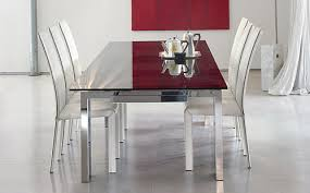 Modern Dining Room Set With Leather Chairs