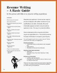 No Experience Resume Template Inspirational How To Make A Examples 0d Skills