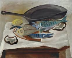 Still Life With Chair Caning Mood by Nature Morte Poissons Et Poêle 1914 By Pablo Picasso Cubism