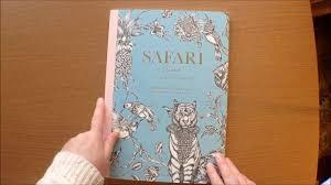 Safari By Emma Fallman Swedish Tavelbok Artist Edition Colouring Book