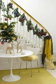 decorating ideas banister trees lights
