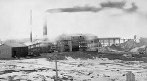 Photograph Of Buildings Some Equipped With Large Smokestacks Number 3 Slope Springhill Mine