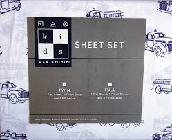 100 Blue Fire Trucks Amazoncom Max Studio Kids 3 Piece Twin Sheet Set