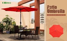 9 Ft Patio Market Umbrella by Amazon Com Ollieroo Patio Umbrella Tilt Aluminum 9ft Outdoor