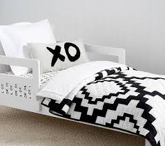 and White Diamond Toddler Bedding