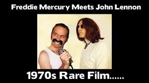 Freddie Mercury Death Bed by Freddie Mercury Meets John Lennon 1970s Rare Youtube