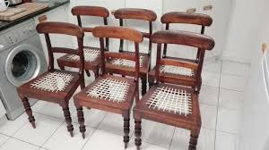 6 X Cape Dutch Stinkwood And Riempie Dining Room Chairs For Sale At R1200 Each
