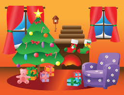 Christmas Living Room Cartoon Trend With Picture Of