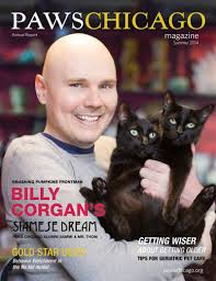 Snail Smashing Pumpkins Live by Billy Corgan Cuddles With Cats On The Cover Of Paws Chicago
