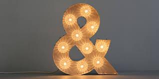 ersand light up letter